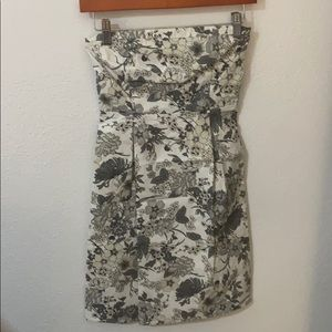 Old Navy Black & White Print Strapless Dress (2)